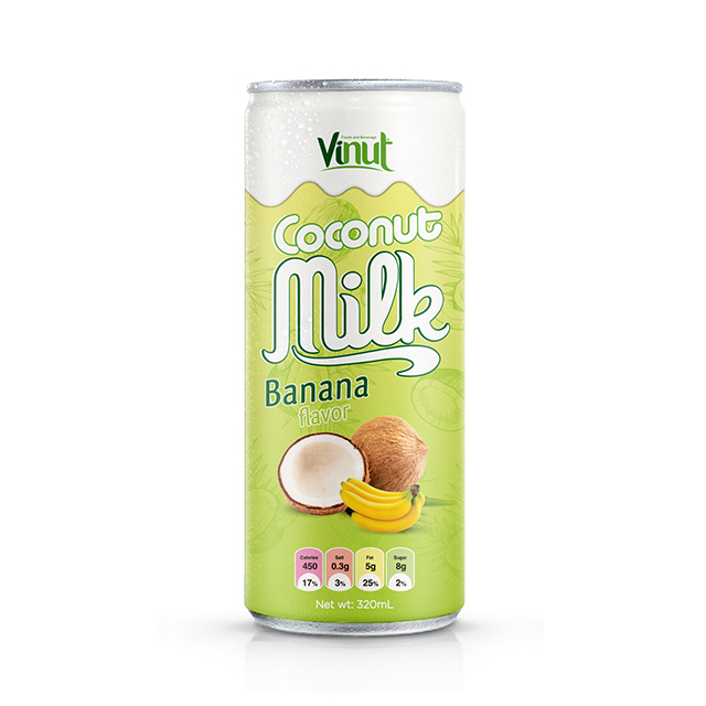 320ml Cans Coconut milk with Banana flavor