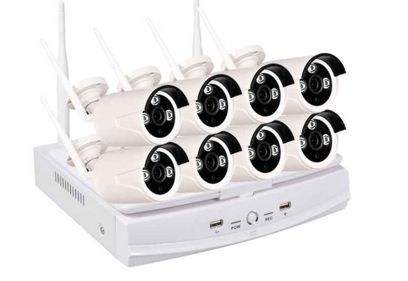 TekeyTBox HD webcam package 4 channel monitoring equipment set Home night vision monitoring system
