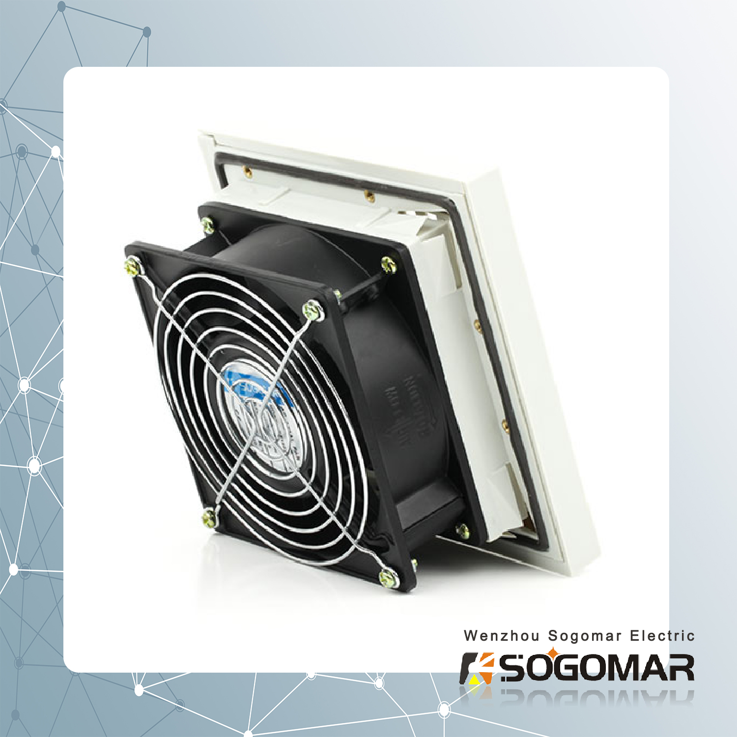 4 inch panel fan with filter and guard