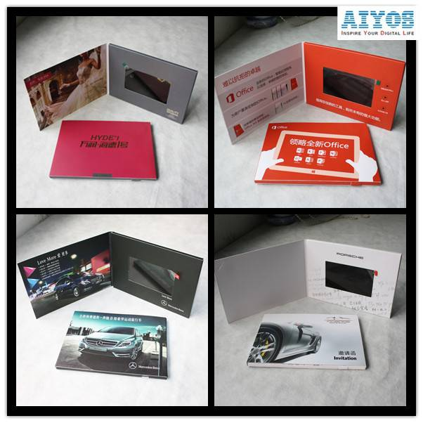 (1.5inch to 10.1inch Optionaal) 4.3 inch LCD TFT Screen Video Brochure Card