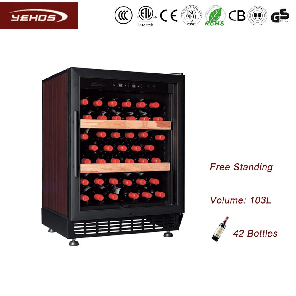 42 Bottles Compressor single Zone Wine cooler YC-103A
