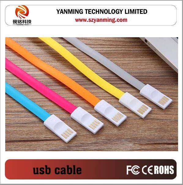 Magnetic usb to micro usb cable for mobile phone