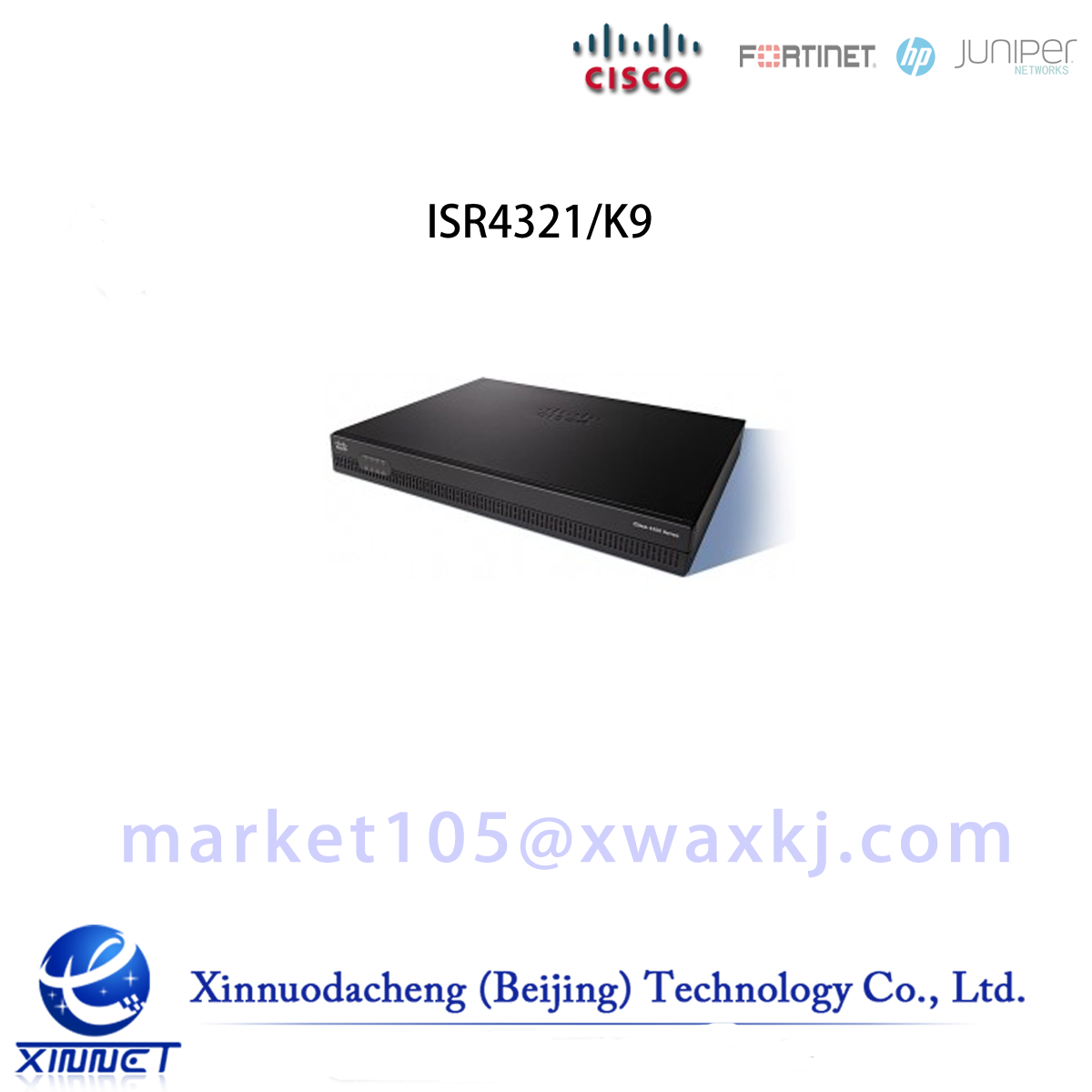 ISR4321/K9 Cisco ISR 4321 (2GE,2NIM,4G FLASH,4G DRAM,IPB)