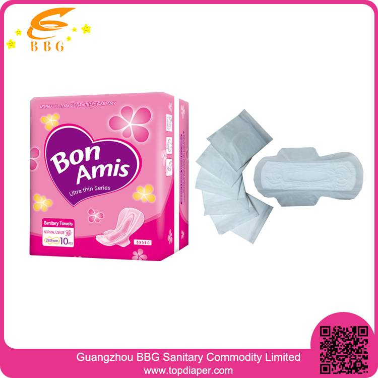 Best quality wing sanitary napkin comfortable and super soft for female