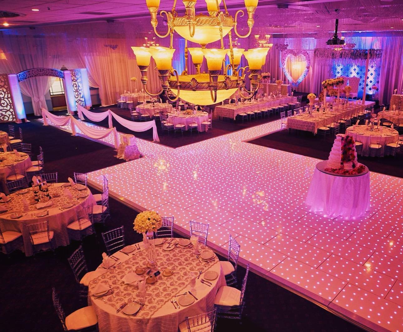 LED Starlit Dance Floor for wedding events