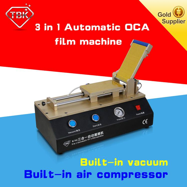 3 in 1 automatic OCA film machine with build-in vacuum pump for LCD refurbishment
