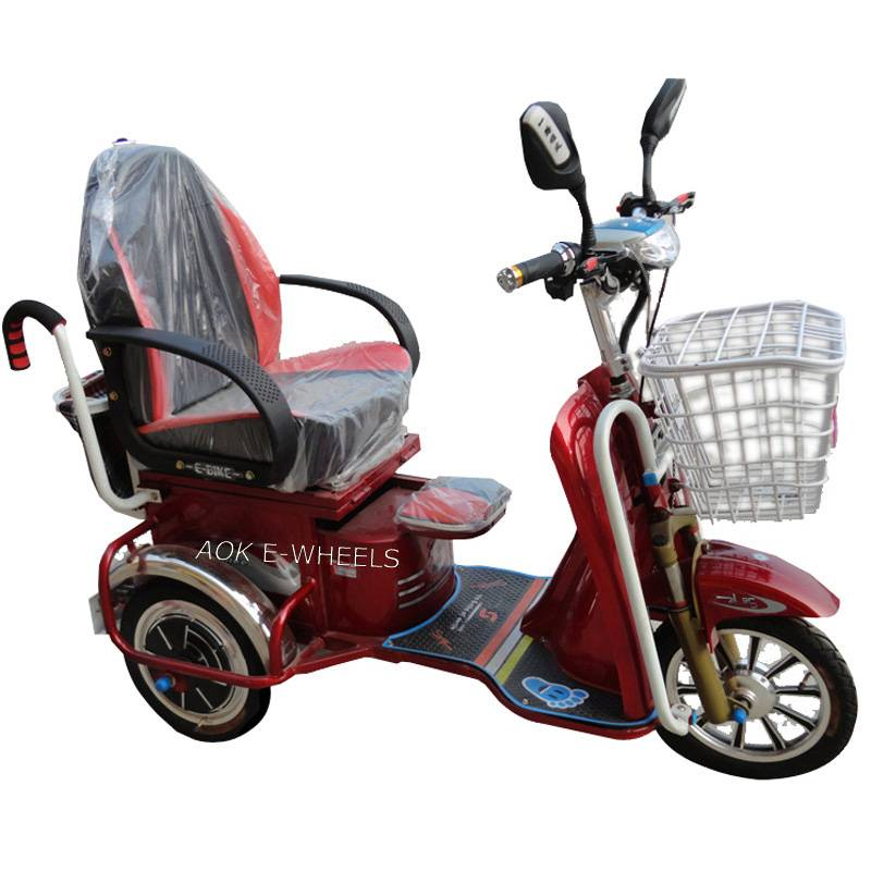 500W Motor Electric Mobility Scooter with LED Light and Basket