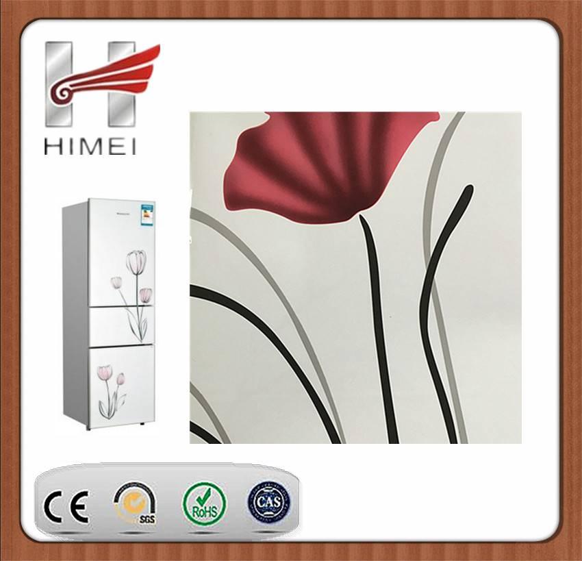 PVC film laminated sheet for refrigerator door panels