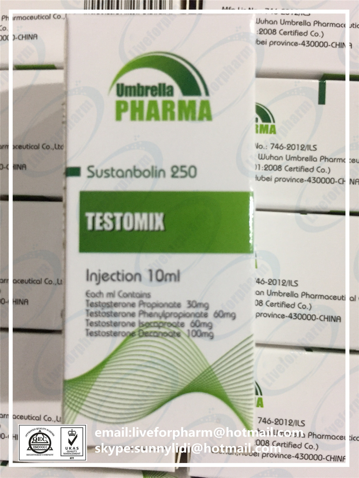 Testomix 250 Injectable Steroid Oil Sustanon 250 Sustanbolin 250 98.8% above purity