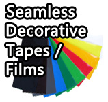 Seamless decorative tapes/film