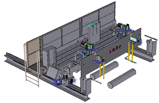 Slab Arc flame cutting machine of continuous casting machine for steel production