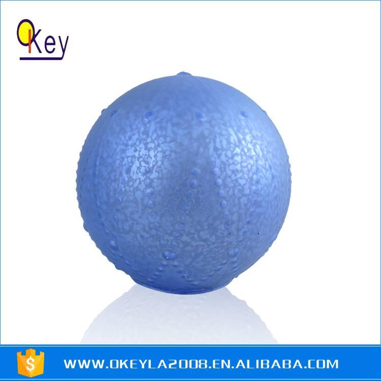 Blue Painting Battery LED Light Glass Balls For Sale
