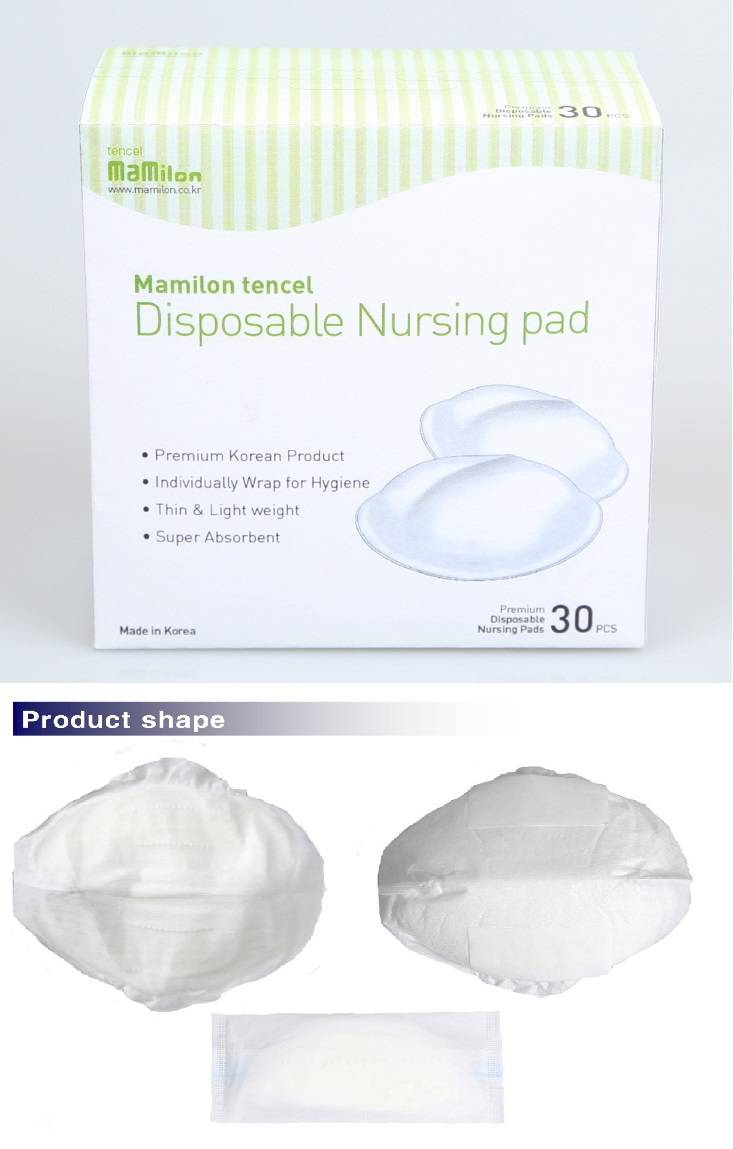 mamilon Tencel cover disposable nursing pads, breast pads,bra pads