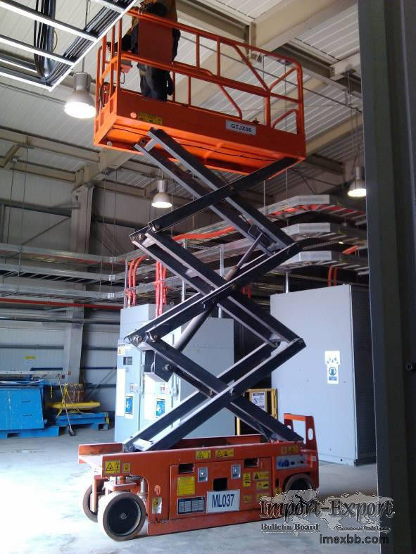 Scissor Lift Man Lift with 6m Platform Height 380kg Load Capacity