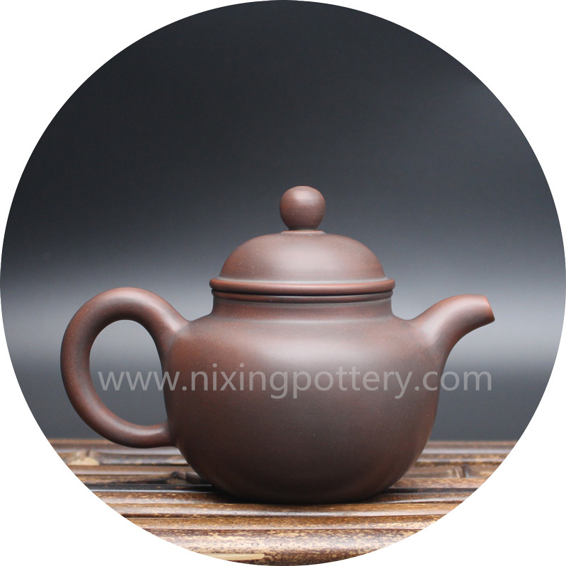 Pure Handmade Ceramic Ball Tea Pot Qinzhou Nixing 200cc