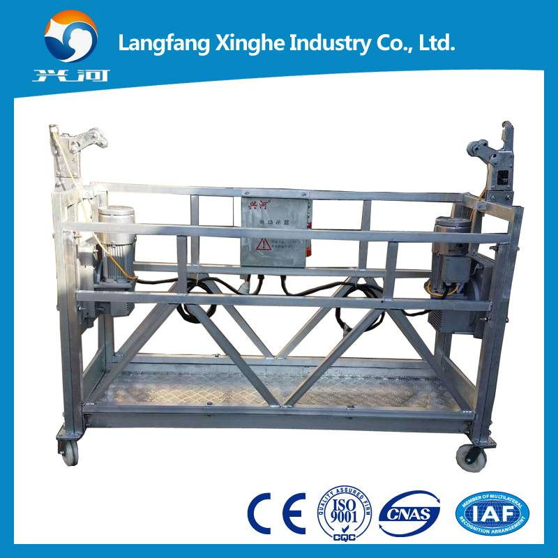 zlp800 suspended working platform / suspended rope cradle / suspended scaffolding electric