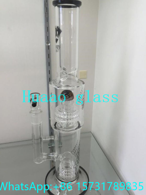 Beaker base glass tobacco pipe Made from durable clear glass