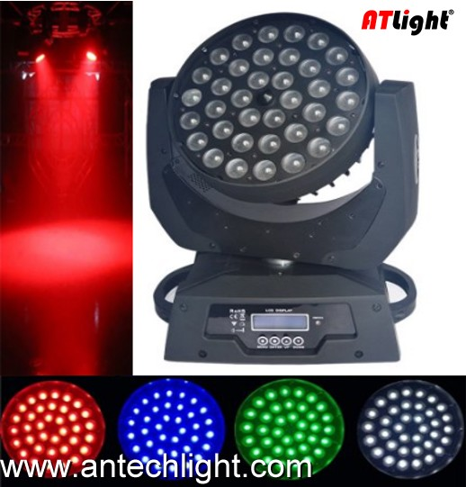 36X10 RGBW 4 in 1 LED Moving Head with Zoom ATM360MZ