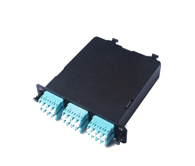 MPO-LC MPO panel OM3 0.9mm 12 port Cold Rolled Steel Sheet MPO Module/Cassette