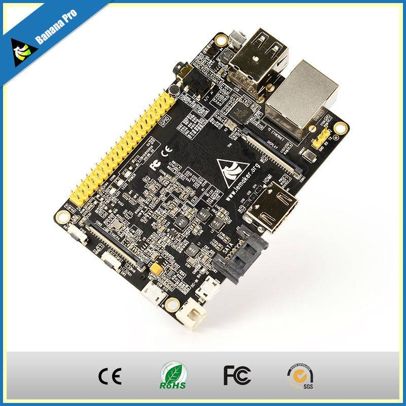 Mini Quad Core Computer Banana Pro Board,Upgraded Version of Banana Pi