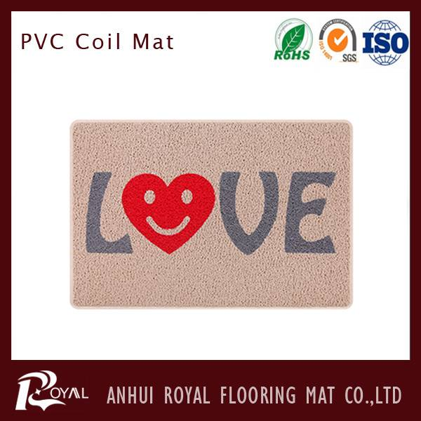 Waterproof PVC Coil Mat for Kitchen/Bathroon