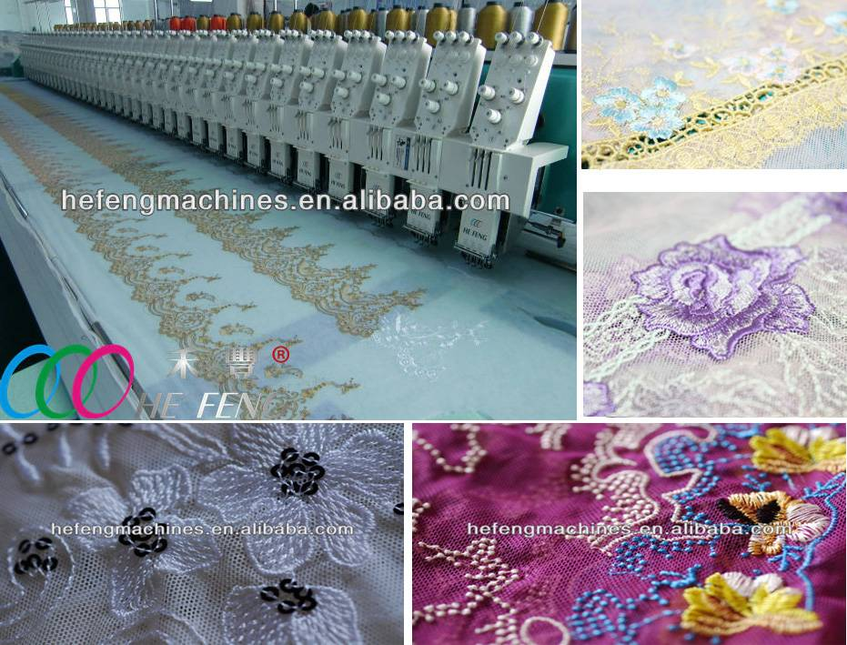 Multi heads lace/water-dissolve embroidery machine