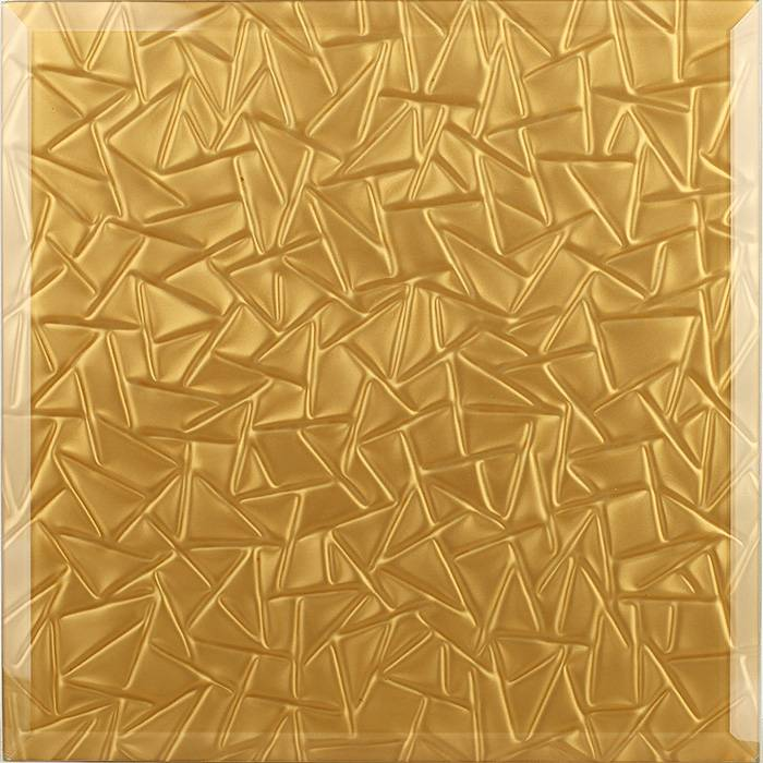 3d glass tiles (Gold casting glass)
