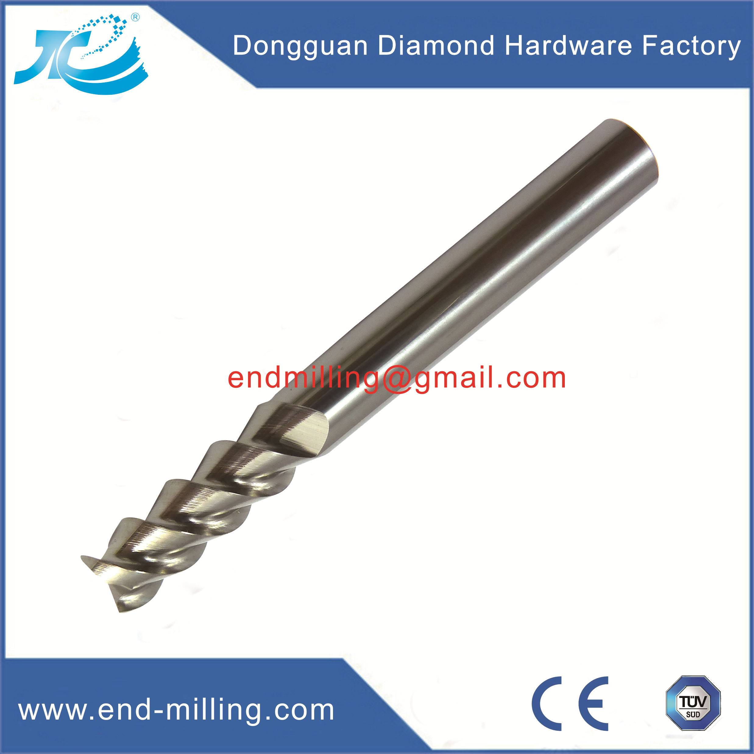 Tungsten Steel End Mill for Aluminum Alloy