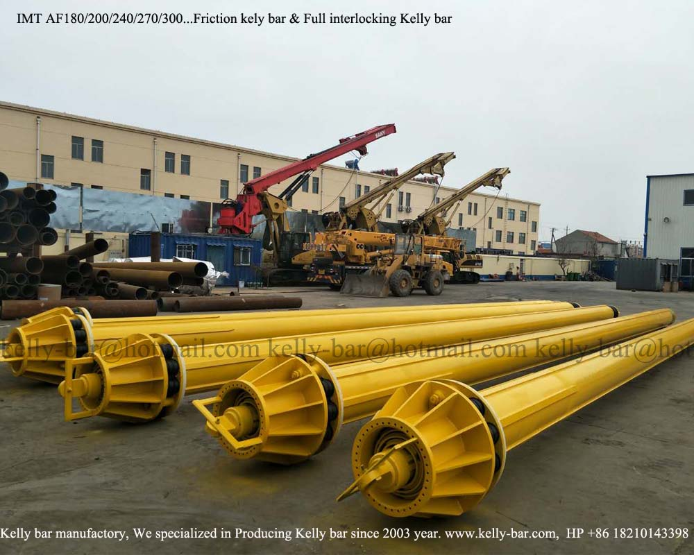 Bored pile drilling machine Friction kelly bar
