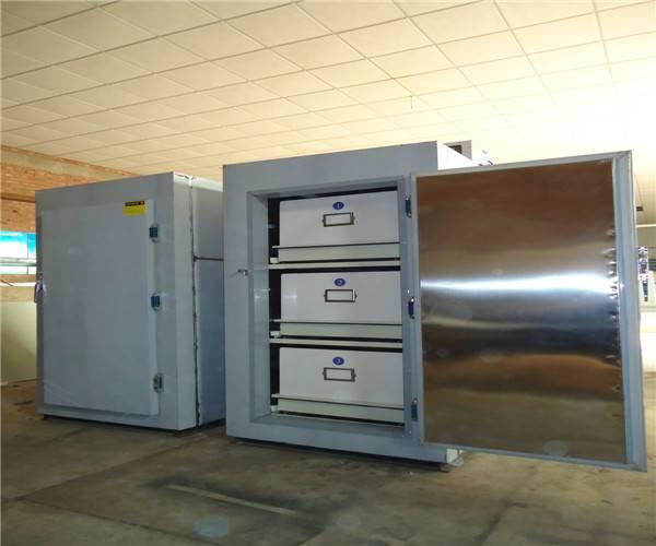 three body refrigerator,mortuary refrigerator