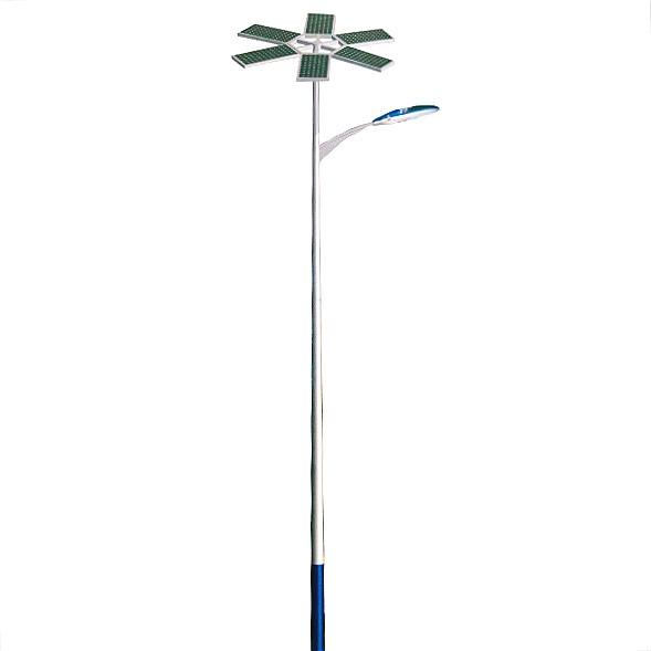 30w led solar street light with 6m lamp pole