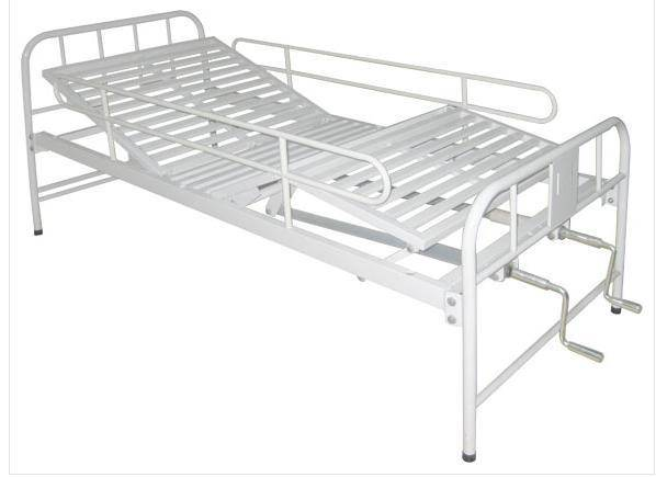 Stainless Steel Manual Double Shake Three Fold Bed