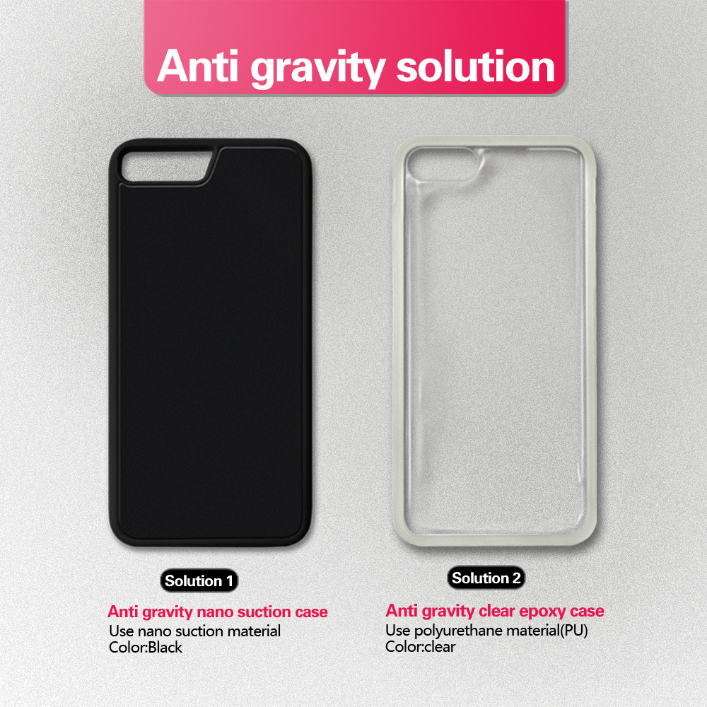 Clear case pc tpu cover mobile phone case anti gravity back for iphone 7