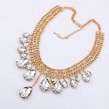 necklace crystal necklace women necklace made of crystal rhinestone alloy,necklace crystal necklace