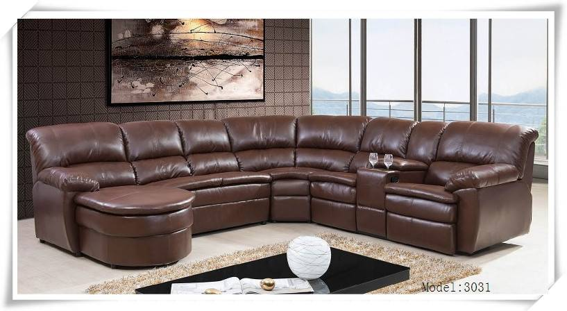 Modern Leather Recliner Sofa and living room furnture
