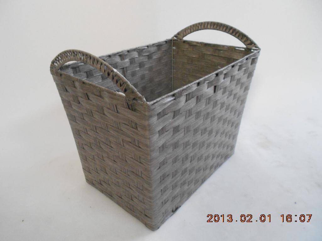 Big paper storage baskets with handle