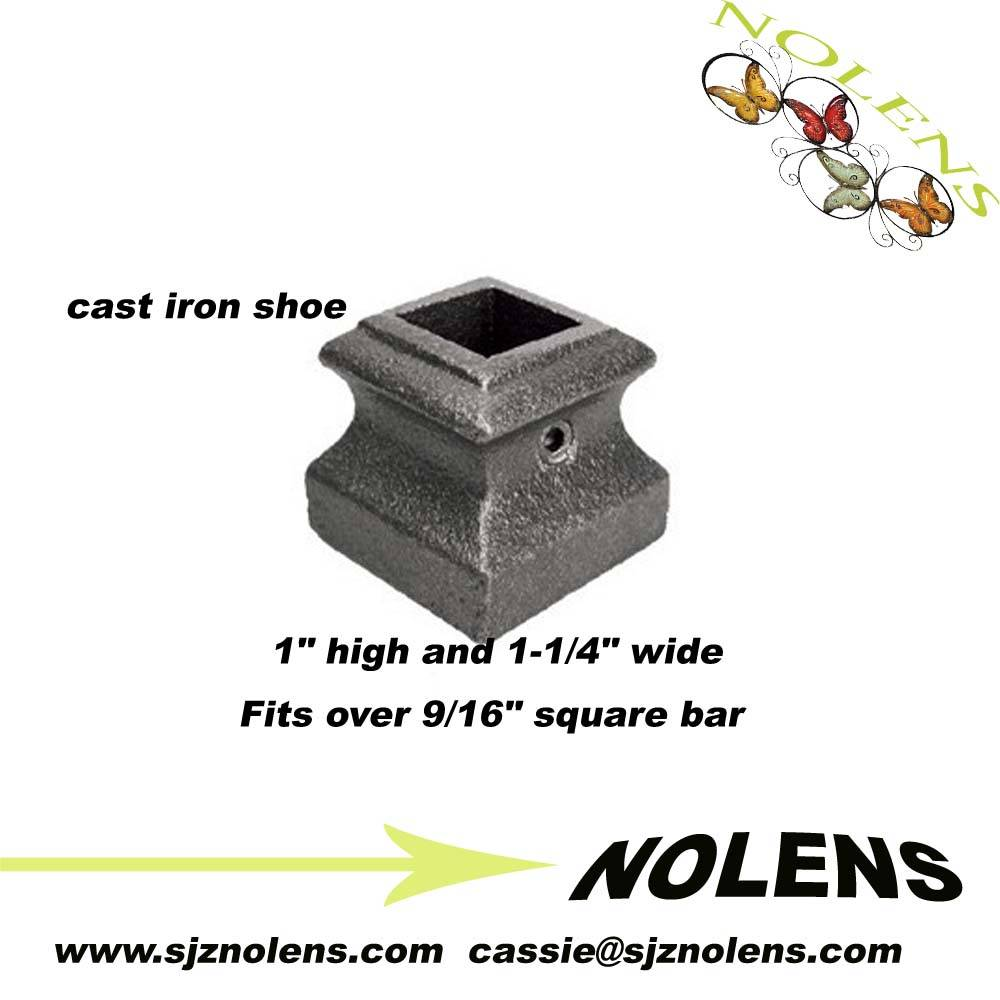 "Cast Iron Base Shoe for 9/16"" Square Bar"