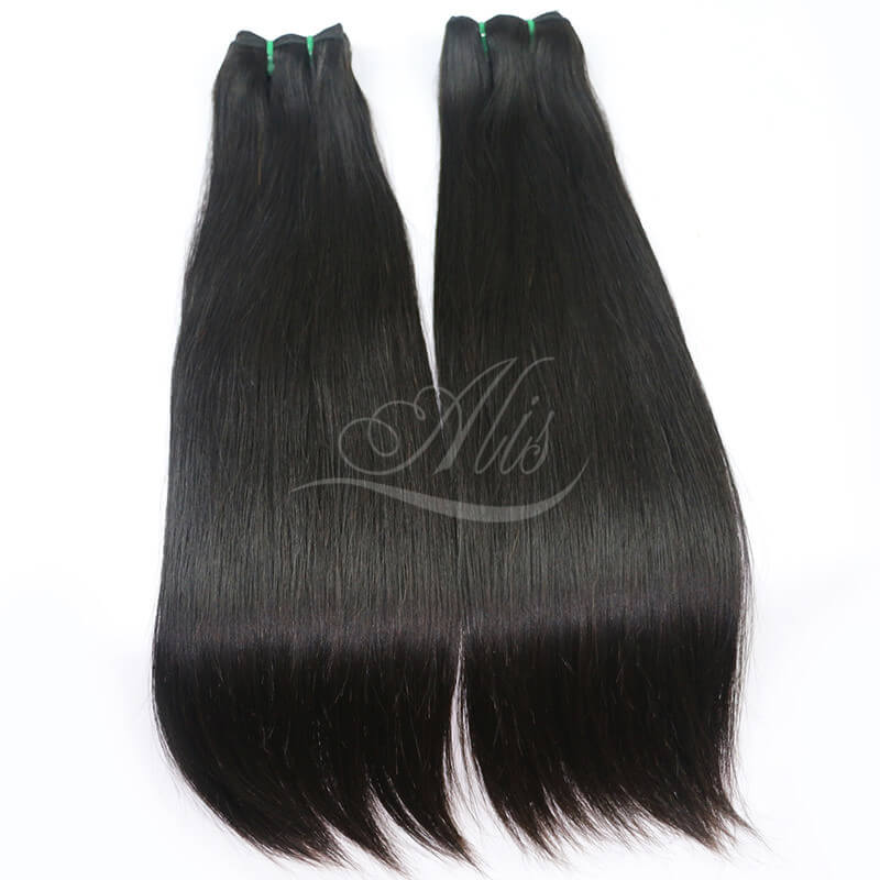 10A ALIS Brazilian Virgin Hair Straight Hair Natural Black 100g