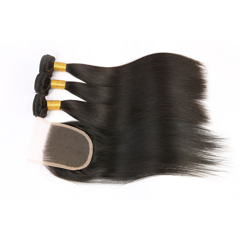 Straight 7a grade 44 peruvian virgin hair full cuticle peruvian lace front closure for black woman