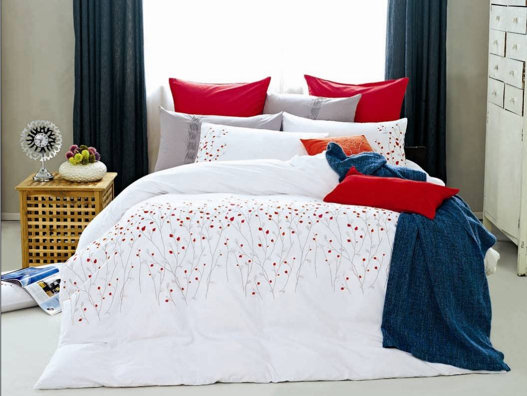 100% cotton embroidery bedding set-MJ016