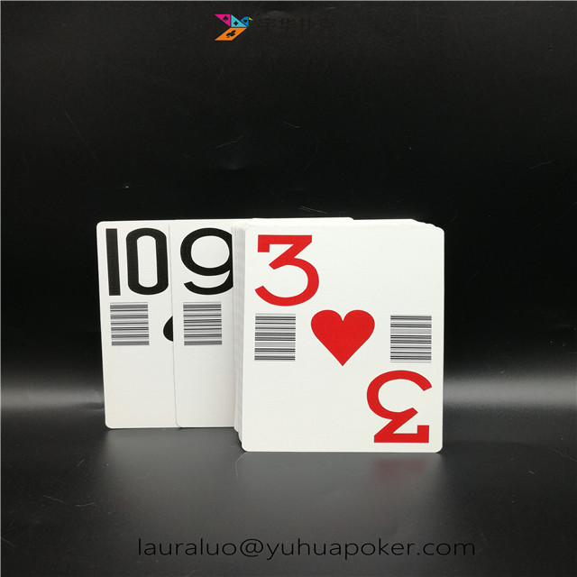 Paper Casino Playing Cards Professional Custom with Bar Code