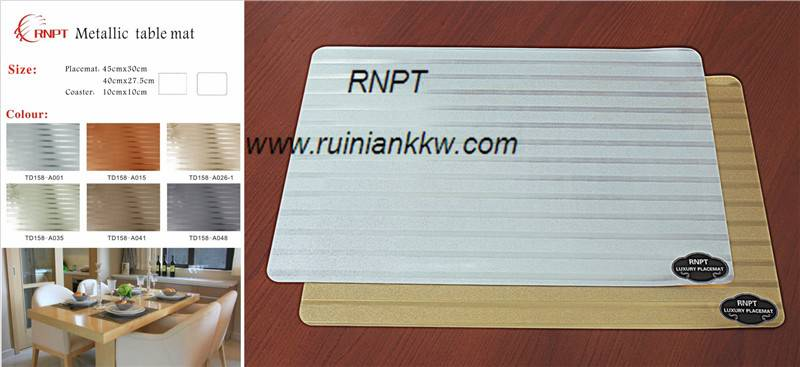 RNPT Metallic table mat