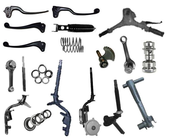 Steering Fork Assembly Parts and Steering Lever