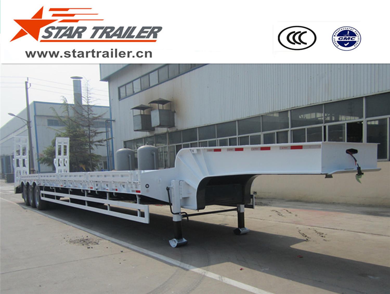 3 Axles Heavy Duty Low Bed Semi-trailer