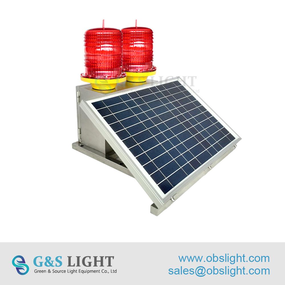 Medium-intensity Double Solar powered Aviation Obstruction Light
