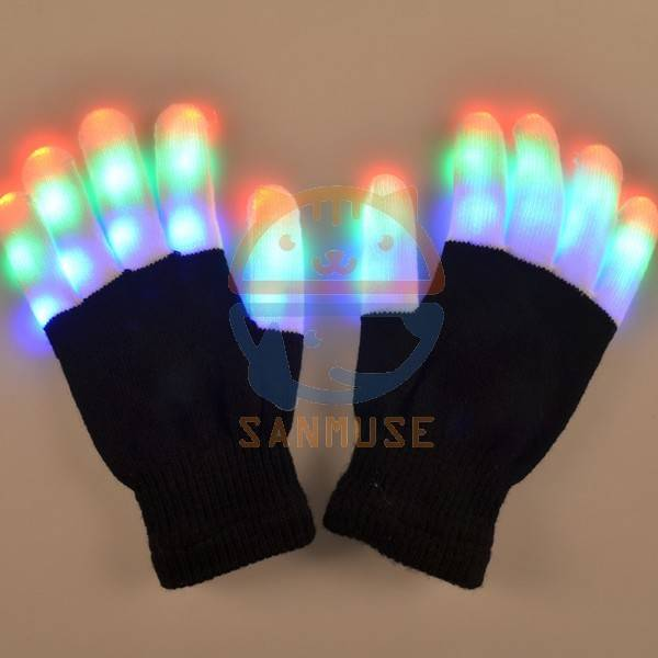 Led flashing glove for Festival Halloween,Christmas,Thanksgiving day , occasion finger skeleton part