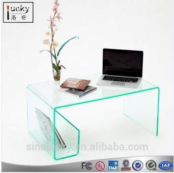 Acrylic Coffee Table With Magazine Rack