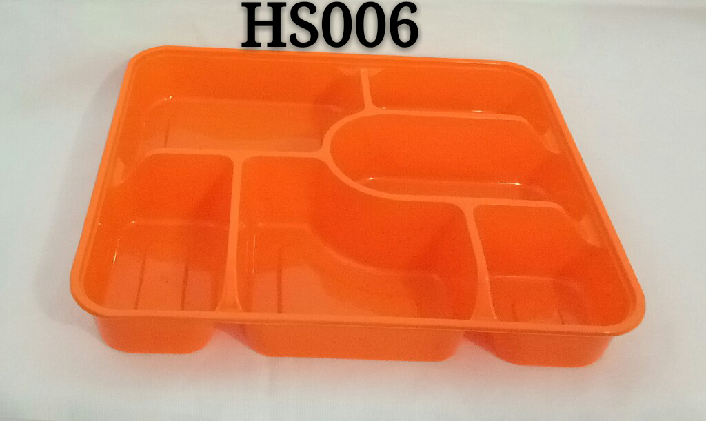 Rectangle Six Compartments/Disposable PP Plastic Microwave Safe Food Container