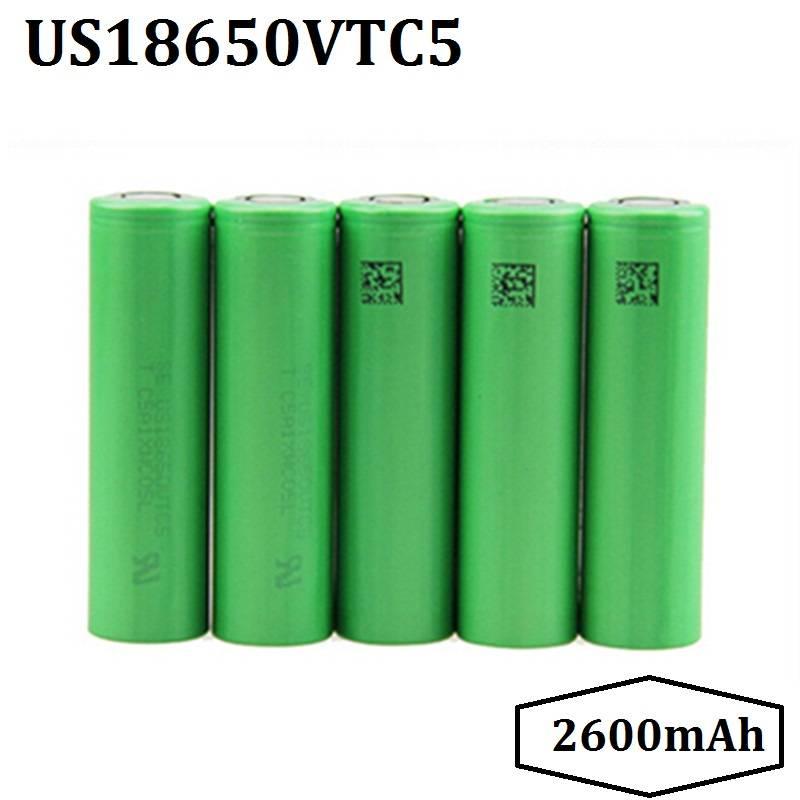 High Drain 30A US18650VTC5 2600mAh Li-ion Rechargeable Battery