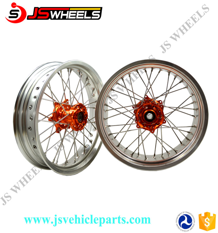 """16"""" 17"""" CNC Spoked Bullet Alloy Wheels for RMZ 250/450 Sport Motorcycle"""